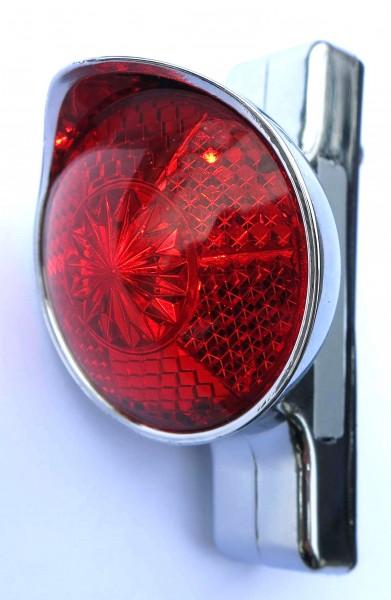 Lámpara trasera Classic Cycle Retro LED con pilas para montaje en guardabarros carcasa cromada