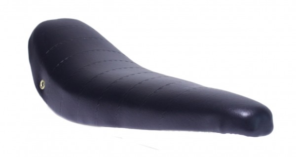 Sillín tipo banana de piel artificial en negro