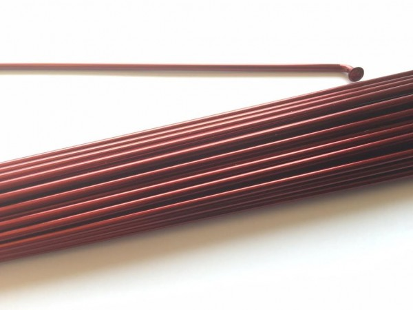 Radio 2.0 x 230 en rojo borgoña metálico