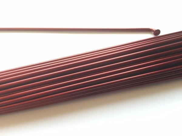 Radio 2.0 x 216 en rojo borgoña metálico