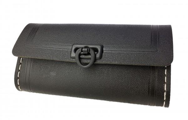 Alforja para herramientas pequeña en negro, 1 cierre de plástico en negro