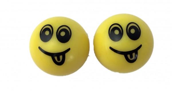 Tapas de válvula Smile amarillo