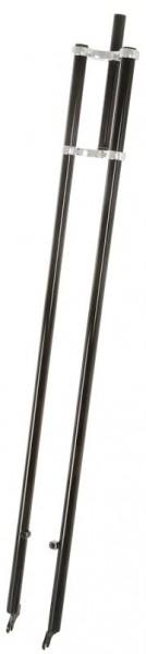 Horquilla doble extragrande de 1400 mm con barras verticales en negro