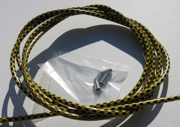Cable exterior Bowden bandera de cuadros en negro / amarillo
