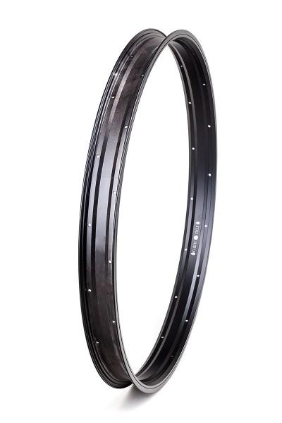 Llanta de aluminio de 27,5 pulgadas 57 mm en negro mate