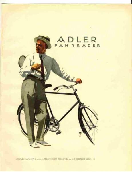Postales talleres de bicicletas Adler