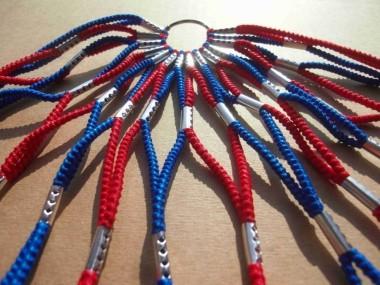 Cubrerueda, de goma en azul y rojo