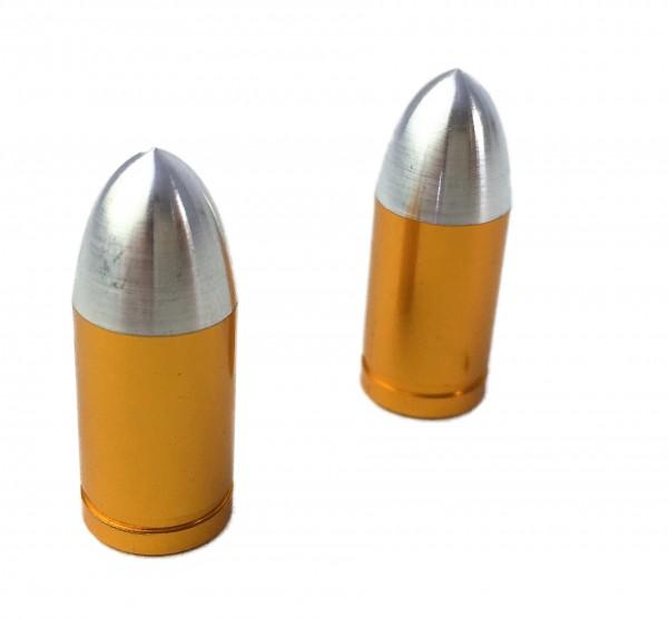 Tapas de válvula Bullet color latón