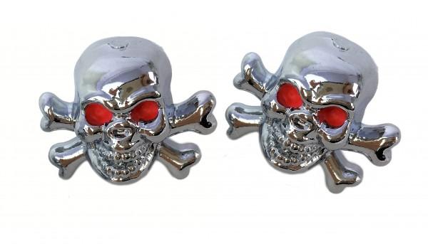 Tapas de válvulas Skull with Bones - Calavera con huesos