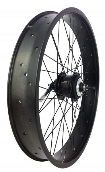 Rueda de 24, rueda trasera Shimano Nexus de 8 velocidades con freno de contrapedal en negro mate