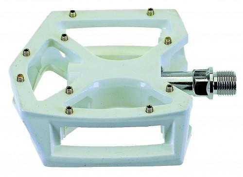 Pedales elegantes, de aluminio, en blanco