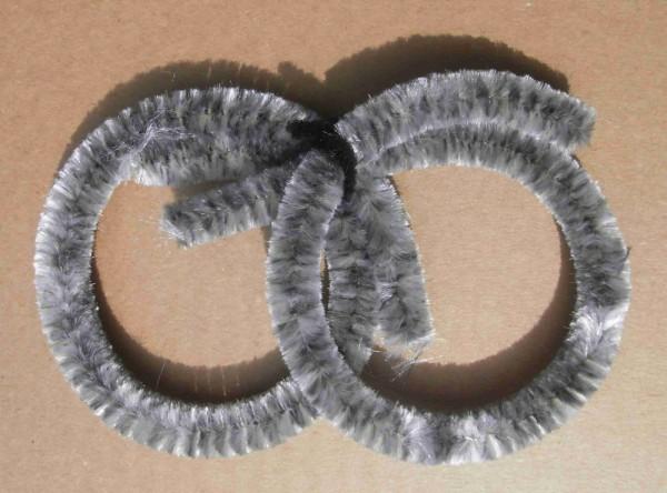 Anillos limpiadores de buje gris plata de chenilla, 2 x grandes