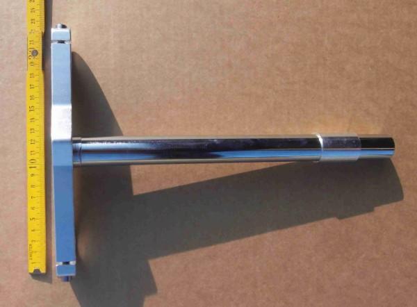 Puente de horquilla inferior extraancho con eje de 1 pulgada largo para horquilla de puente doble y adaptador para cabezales de horquilla 1 1/8