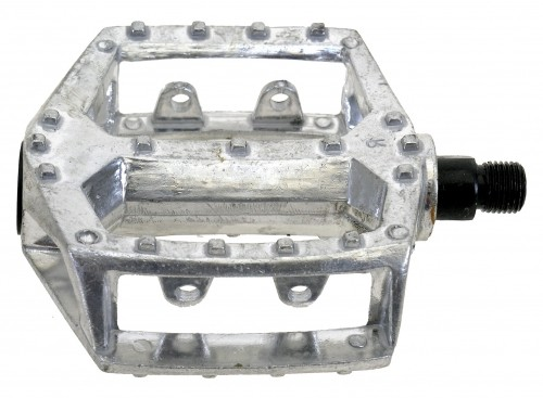 Pedales, aluminio, plateado