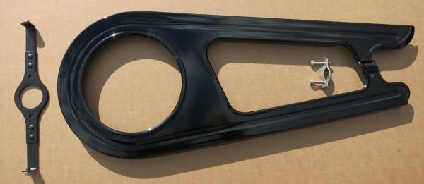 Cubrecadenas 2 alas Classic de acero en negro para 26/28 pulgadas para 46 dientes