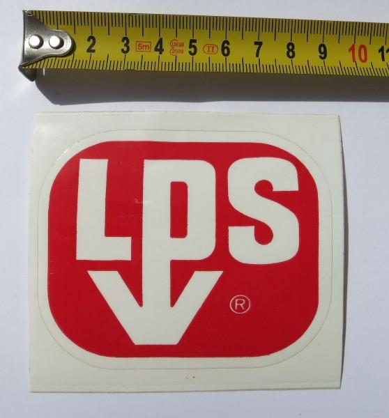 Pegatina original LPS de principios de los años 70