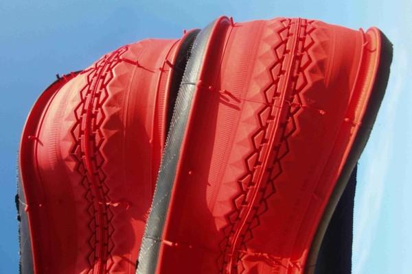 Cubierta clincher, 28 x 1 1/2 en rojo teja