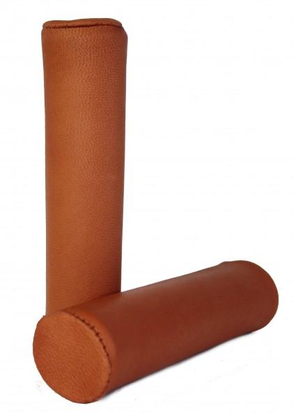 Puños de cuero auténtico, marrón